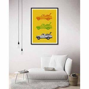 Camel Taxi Two on living room wall