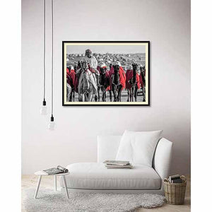Celebration in Million Street 6 on living room wall