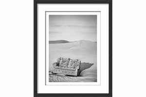 Framed Paper Couch in the Desert