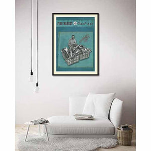 Fishmarket on living room wall