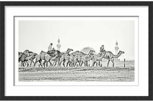 Framed Paper Mosque and Caravan