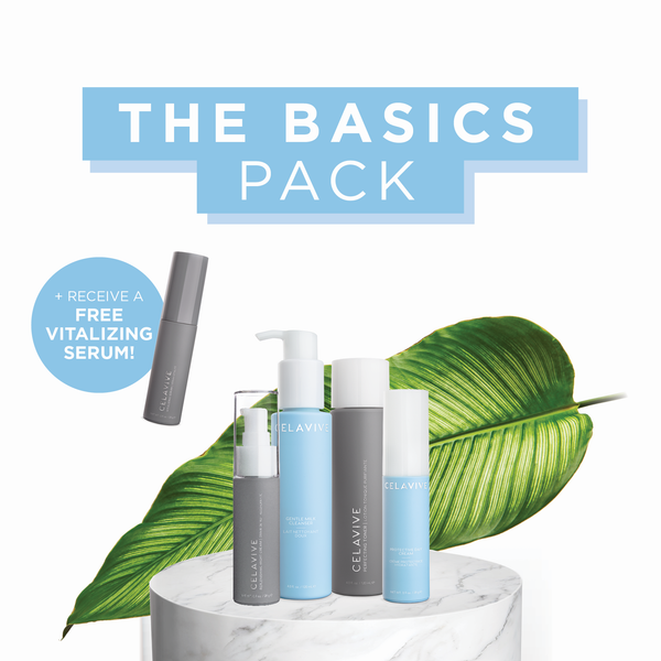 FREE Vitalizing Serum with Every Basics Pack!  Limited Time Only