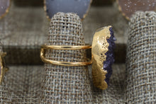 Load image into Gallery viewer, Amethyst Druzy Ring
