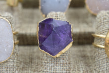 Load image into Gallery viewer, Amethyst Point Ring