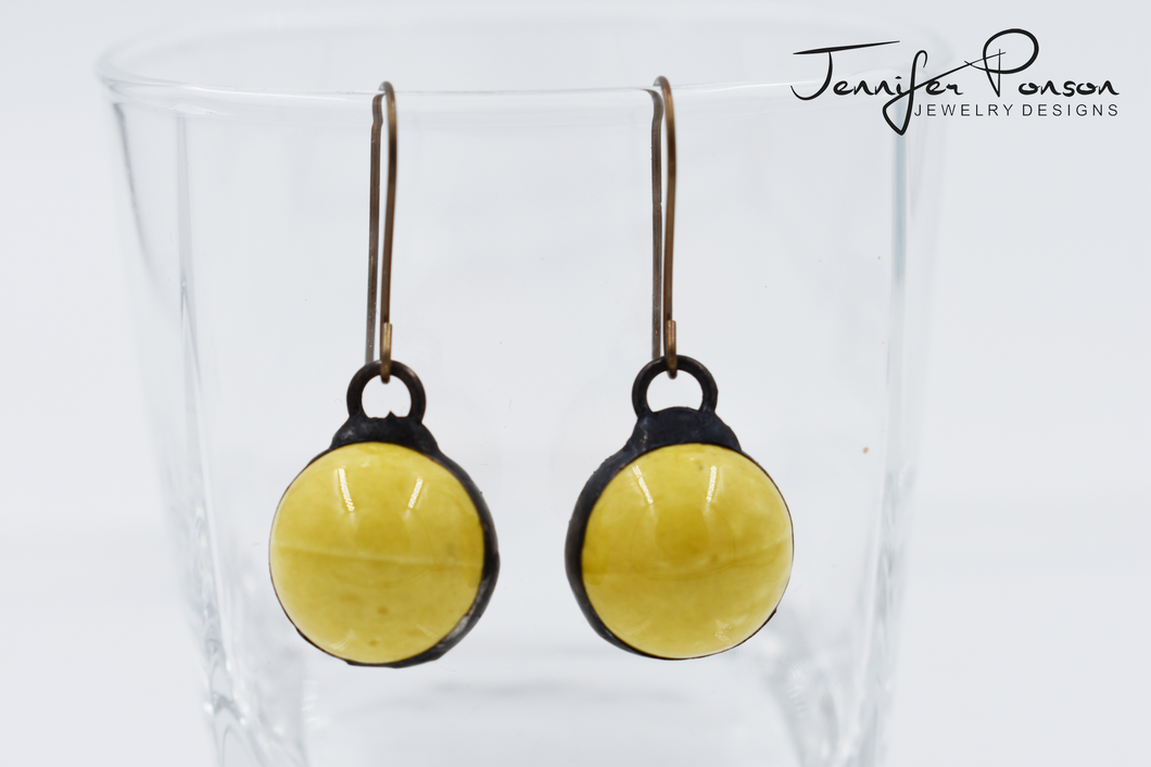 Yellow Porcelain Earrings