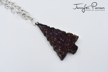 Load image into Gallery viewer, 36'' Chain Necklace with Amethyst Christmas Tree