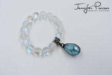 Load image into Gallery viewer, Aura Beaded Bracelet with Crystal Pendant