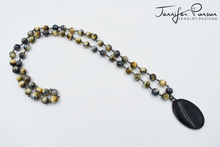Load image into Gallery viewer, Tiger's Eye Beaded Necklace and Pendant