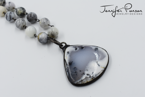 Dendritic Agate Necklace and Pendant