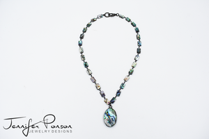 Abalone Shell Necklace and Pendant