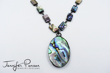 Load image into Gallery viewer, Abalone Shell Necklace and Pendant