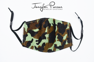 Camouflage Print Cow Hide Face Mask