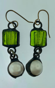 Murano with Pearl Drop Earrings