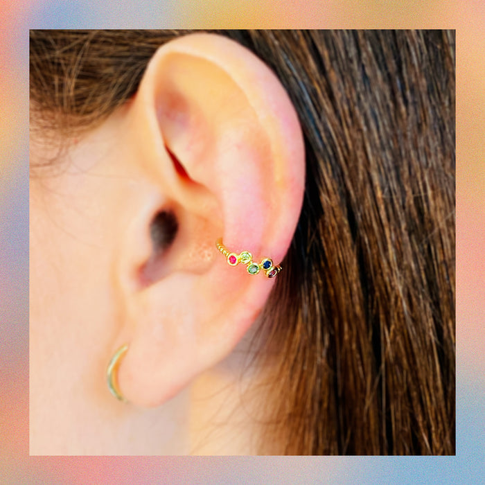 Earcuff Swag Rainbow | Canario Shop