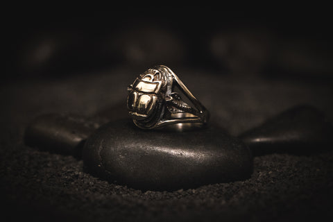 Scarab Cobra Cult Ring