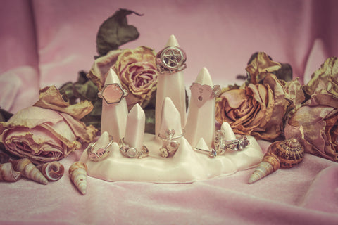 Limited Edition Ceramic Stalagmite Ring Holder - Blush Pink