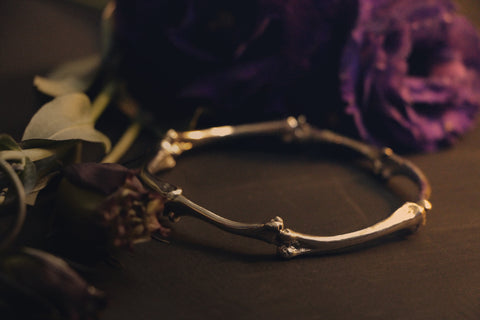 Black Burial Bone Bracelet