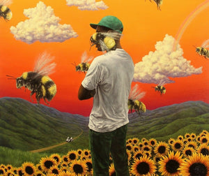 Tyler the Creator Flower Boy Rap Music  Silk Poster Wall Decor Room Painting 24X3Inch
