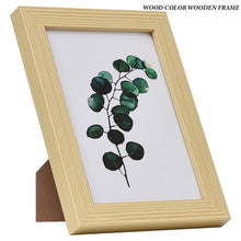 Load image into Gallery viewer, Black White Wood Color Picture Photo Frame A4 A3 Wooden Frame Nature Solid Simple Wooden Frame Wall Mounting Hardware Included