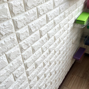 3D Brick Wall Stickers Wallpaper Decor Foam Waterproof Wall Covering Wallpaper For Kids Living Room DIY Background