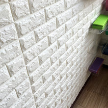 Load image into Gallery viewer, 3D Brick Wall Stickers Wallpaper Decor Foam Waterproof Wall Covering Wallpaper For Kids Living Room DIY Background