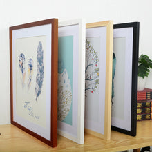 Load image into Gallery viewer, A4 A3 Wooden Frame Black White Color Photo Frames for Wall Art Picture Frames  Photo Frames for Picture Walnut Wood Frames