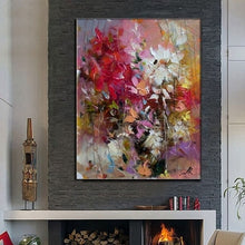 Load image into Gallery viewer, Big 100% Hand-painted Floral Purple Abstract Oil Painting Modern Wall Art Living Room No Frame Picture Home Decoration Painting