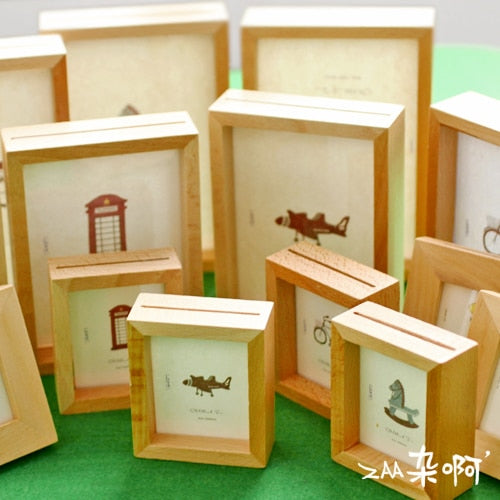 1pc Simple Solid Wood Photo Frame Creative 16 Inch Desktop Photo Frame 6 Inch 24 Inch Home Decoration