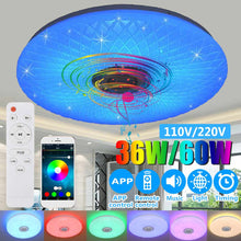 Load image into Gallery viewer, Modern RGB LED Ceiling Light home lighing 36W/60W 40cm APP Remote Control bluetooth Music Light Bedroom Lamp Smart Ceiling Lamp