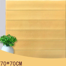 Load image into Gallery viewer, 70*70 Mediterranean Vintage 3D Wood Stripes Wall Stickers DIY PE Foam Self-adhesive Living Room Bedroom Home Decor Wallpapers