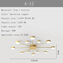 Load image into Gallery viewer, New led Chandelier For Living Room Bedroom Home chandelier by sala Modern Led Ceiling Chandelier Lamp Lighting chandelier