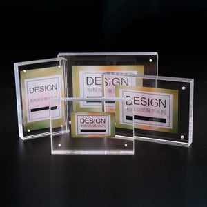 5 Inch 6 Inch 7 Inch 8 Inch Double-faced Crystal Photo Frame Desk Set Acrylic Photo Frame Hot Sale A $
