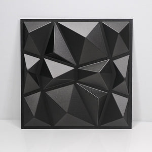 30x30cm 3d Art Plaster Cutting Geometric Diamond Carved Wood Adhesives Bottom Wall 3d Wall Sticker Home Decor Decorative Panel
