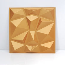 Load image into Gallery viewer, 30x30cm 3d Art Plaster Cutting Geometric Diamond Carved Wood Adhesives Bottom Wall 3d Wall Sticker Home Decor Decorative Panel