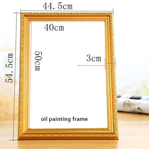 Diy frame unfinished wooden stretcher oil painting diamond mosaic thin wood frame picture frame wall painting