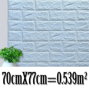 70*77cm Brick wall Stickers DIY 3D PE Foam Wallpaper Panels Room Decal Stone Decoration Embossed Self Adhensive 3D Brick Wall
