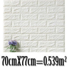 Load image into Gallery viewer, 70*77cm Brick wall Stickers DIY 3D PE Foam Wallpaper Panels Room Decal Stone Decoration Embossed Self Adhensive 3D Brick Wall