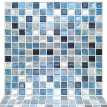 Load image into Gallery viewer, Fancytiles Waterproof Self Adhesive 3D Mosaic Wall Decal peel and stick vinyl tile kitchen backsplash
