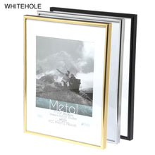Load image into Gallery viewer, Metal Picture Frame Classic Minimalist Desktop Photo Frame 9x13 13x18 21x30cm Pleixglass Inside Certificate Frame