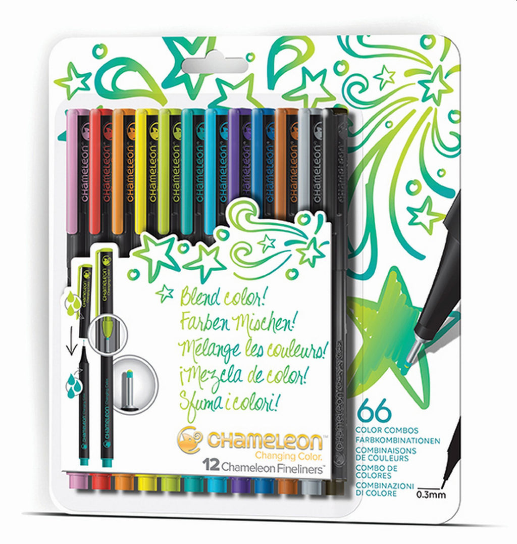 CHAMELEON Fineliner Set 0.3mm FL1201 12 Farben Bright