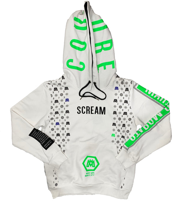 "Mario Morato: Couture ""SCREAM"" Hoodie (White)"