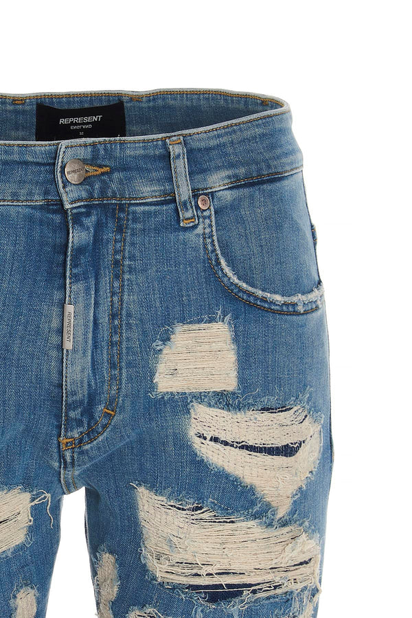 Represent: Shredded Denim (Light Blue)