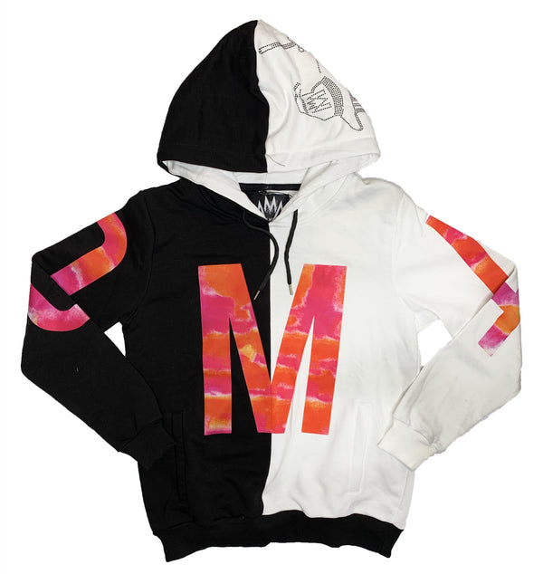Mario Morato: Couture OtherSide Hoodie (White/Black/Sunset)