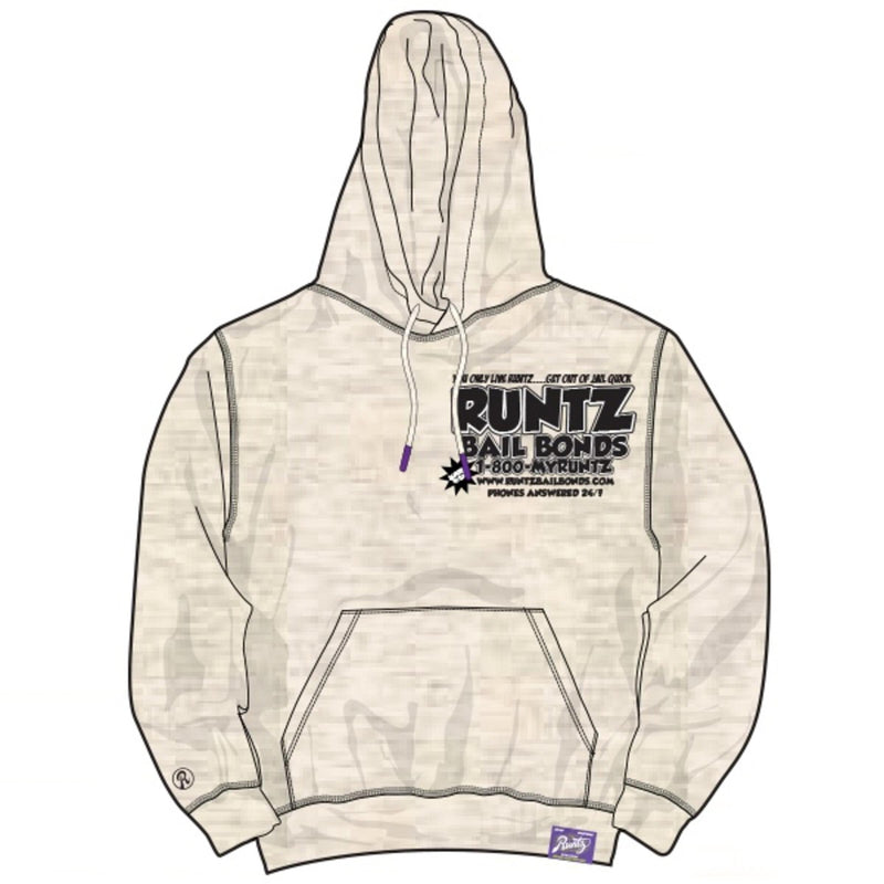 Runtz: BAIL BONDS HOODIE (Oatmeal Heather)