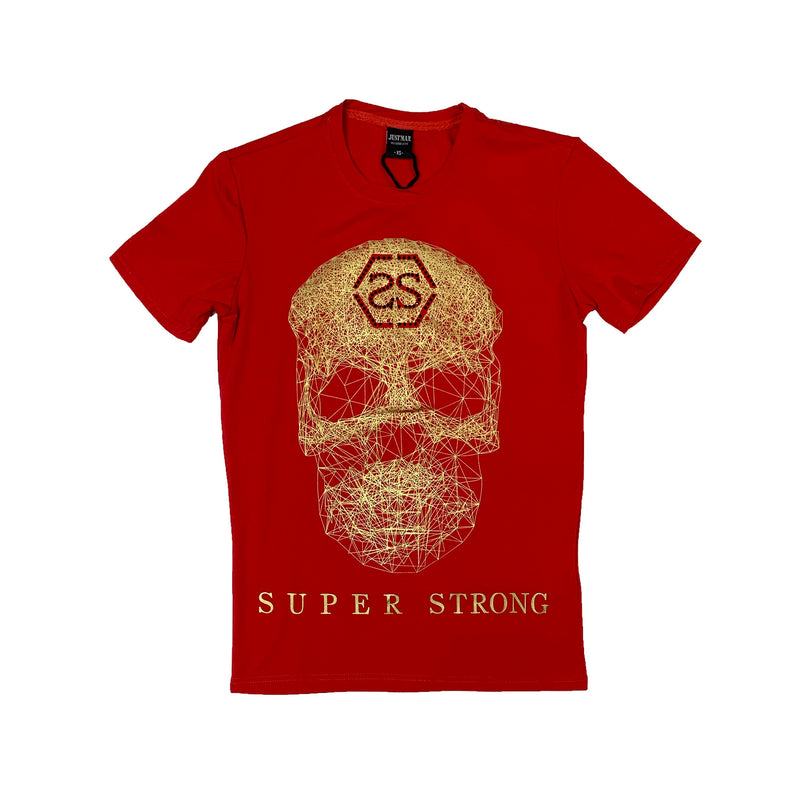 Just Man: Just Man T-Shirt (Super Strong) Red