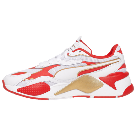 PUMA: RS-X3 VARSITY WOMENS (WHITE, HIGH RISK RED, GOLD)
