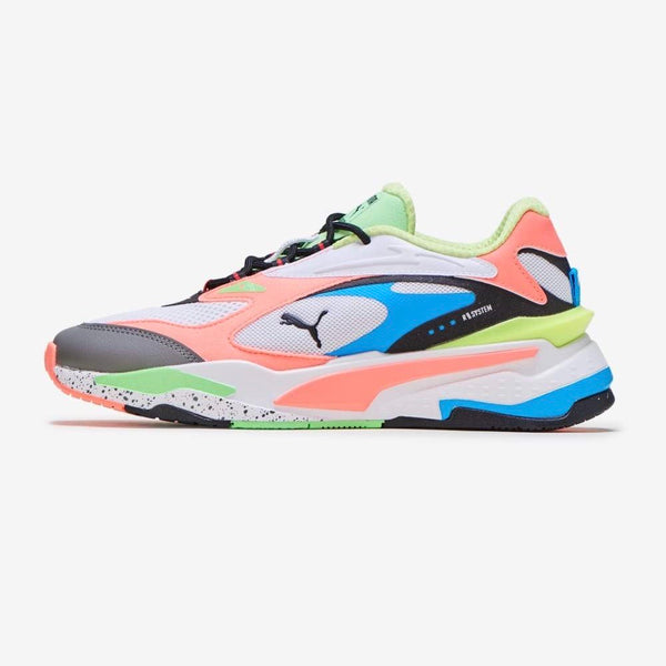 PUMA: RS-FAST (WHITE, PEACH, BLUE)