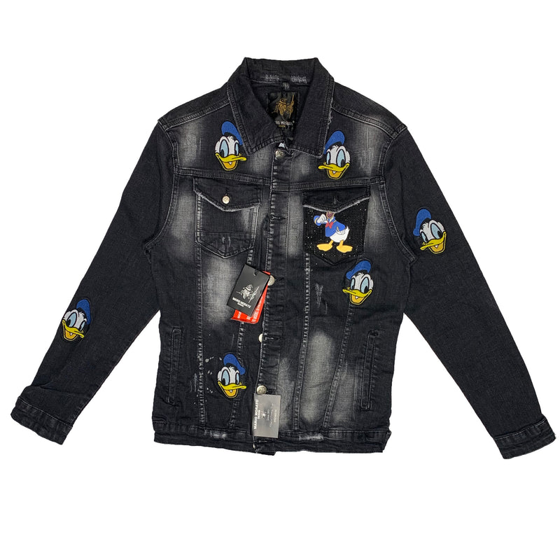 Mario Morato: Donald Duck Denim Jacket (Black Washed)
