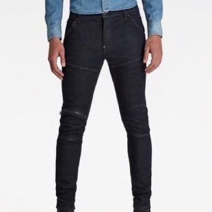 G-STAR RAW: 5620 3D ZIP KNEE SKINNY Denim Jeans (3D RAW Denim)