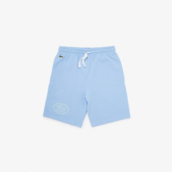 Lacoste: Embroidered Logo Fleece Shorts (Blue)